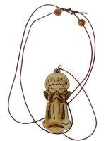 Immagine di 'Piccolo angelo custode in legno con laccio - altezza 5 cm'
