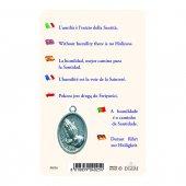 """Immagine di 'Card """"Madre Teresa"""" multilingue con frase e medaglia - (10 pezzi)'"""