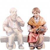 Nonna seduta R.K. - Demetz - Deur - Statua in legno dipinta a mano. Altezza pari a 15 cm.