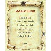 """Immagine di 'Icona sagomata """"Angelo custode"""" con cartoncino-preghiera - dimensioni 9x13 cm'"""