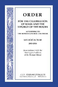 Copertina di 'Order for the celebration mass and liturgy hours 2015-2016'