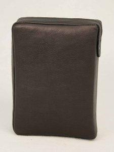Copertina di 'Custodia in pelle con chiusura a zip per Bibbia Via Verità e Vita ed. San Paolo - colore marrone'