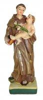 Statua di Sant'Antonio da 12 cm in confezione regalo con segnalibro in IT/EN/ES/FR