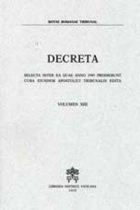 Copertina di 'Decreta.  Selecta inter ea quae anno 1995 prodierunt cura eiusdem Apostolici Tribunalis edita'