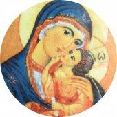 Immagine di 'Medaglia Madonna della Tenerezza  ovale in argento 925 e porcellana - 3 cm'