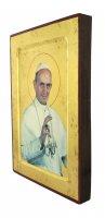 Immagine di 'Icona S. Paolo VI, produzione greca su legno - 25,5 x 18,5 cm'