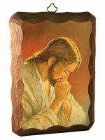 Quadretto in legno Gesù che prega
