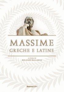 Copertina di 'Massime greche e latine'