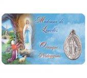 Card medaglia Madonna di Lourdes (10 pezzi)