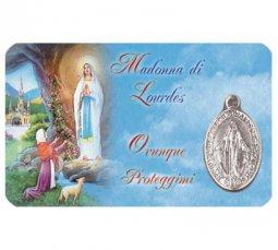 Copertina di 'Card medaglia Madonna di Lourdes (10 pezzi)'