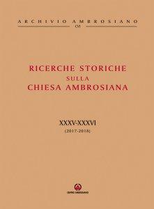 Copertina di 'Ricerche Storiche sulla Chiesa Ambrosiana'