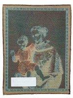 """Immagine di 'Arazzo sacro """"Sant'Antonio con Gesù Bambino"""" - dimensioni 40x32 cm'"""