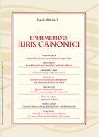 Ephemerides Iuris Canonici - Aa. Vv.