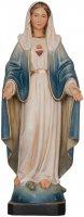 """Statua in legno dipinta a mano """"Sacro Cuore di Maria"""" - altezza 23 cm"""