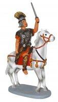 Soldato a cavallo per presepe cm 12 - Linea Martino Landi