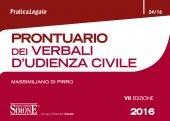 Prontuario dei Verbali d'Udienza Civile - Massimiliano Di Pirro
