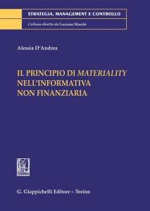 Copertina di 'Il principio di materiality nella informativa non finanziaria - e-Book'
