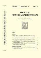 Alcuni documenti inediti riguardanti il capitolo generalissimo di Roma del 1517 (pp. 29-40) - Pacifico Sella, OFM