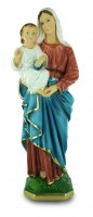 Statua Madonna con bambino in gesso dipinta a mano - 40 cm
