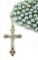 Immagine di 'Rosario imitazione perla vetro Ø 5 mm  azzurro'