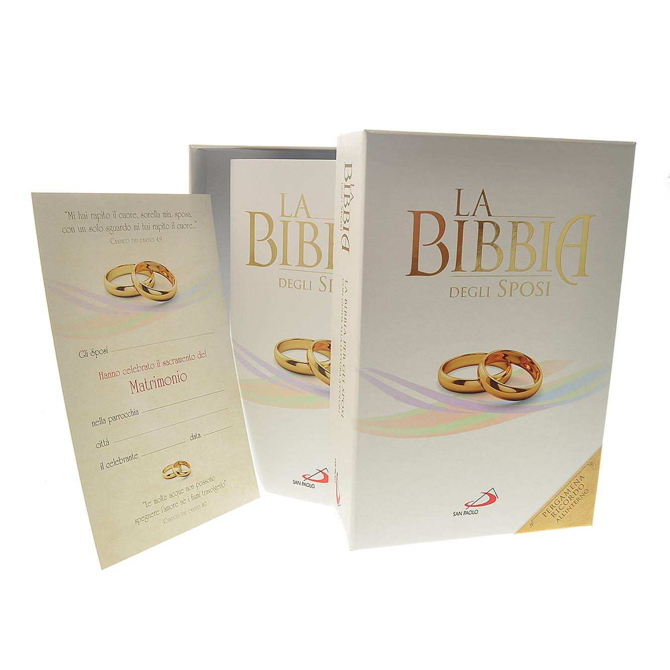 Anniversario Di Matrimonio Bibbia.La Bibbia Degli Sposi Edizione Con Scatola E Pergamena Libro