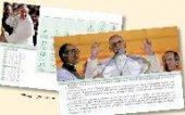 Calendario da tavolo 2015 Shalom Papa Francesco