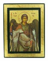 Icona San Michele Arcangelo, produzione greca su legno - 25 x 20 cm