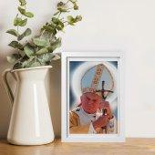 """Immagine di 'Quadretto """"Papa Giovanni Paolo II"""" con passe-partout e cornice minimal - dimensioni 15x10 cm'"""