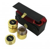 Immagine di 'Astuccio kit celebrazione messa con tre vasetti dorati'