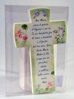 """Immagine di 'Croce effetto pietra """"Ave Maria"""" - dimensioni 10,5x16,5 cm'"""