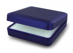Copertina di 'Scatolina Portarosario in plastica rigida di colore blu - 8,5 x 8,5 cm'
