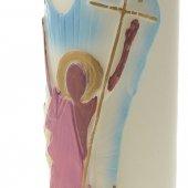 """Immagine di 'Cero per altare con bassorilievo """"Cristo risorto"""" - altezza 30 cm'"""