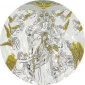 Immagine di 'Quadretto Bassorilievo di Maria che scioglie i nodi, Argento 999 (18 x 13,5 cm)'
