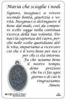 Immagine di 'Card Maria che scioglie i nodi con medaglia - 5,5 x 8,5 cm'
