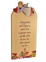 """Icona in legno """"Angioletto del Signore"""" - dimensioni 9x18 cm"""