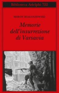 Copertina di 'Memorie dell'insurrezione di Varsavia'
