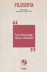 Copertina di 'Filosofia. Franz Rosenzweig: storia e redenzione (2018)'
