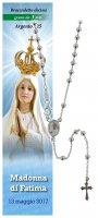 Collana rosario Madonna di Fatima - diam. grani mm 3