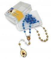 Rosario imitazione perla vetro Ø 6 mm Madonna di Loreto con scatola