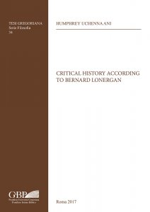 Copertina di 'Critical history according to Bernard Lonergan'