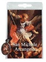 Medaglia San Michele con laccio e preghiera in italiano