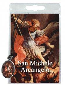 Copertina di 'Medaglia San Michele con laccio e preghiera in italiano'