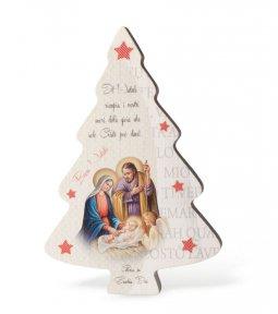 """Copertina di 'Albero di Natale """"Natività"""" Linea White Chic - altezza 15 cm'"""