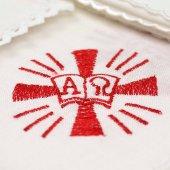 """Servizio da messa 4 pezzi """"croce alfa omega"""""""