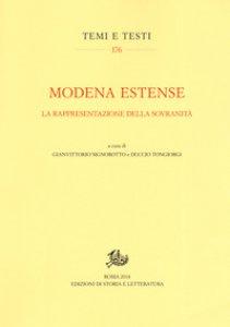 Copertina di 'Modena estense. La rappresentazione della sovranità'