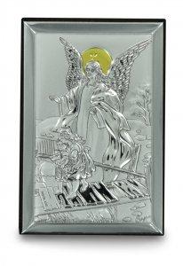 Copertina di 'Bassorilievo Angelo Custode in argento - 6 x 9 cm'