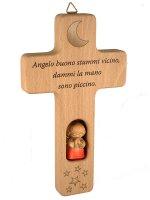 Croce con Angioletto rosso e preghiera di  su LibreriadelSanto.it