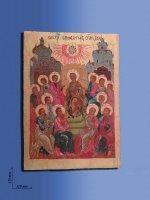 "Icona policroma in legno ""Pentecoste"" - cm 43 x 31"