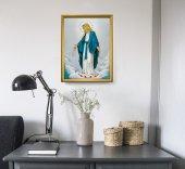 """Immagine di 'Quadro """"Immacolata Concezione"""" con lamina oro e cornice dorata'"""