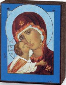Copertina di 'Quadro icona Madonna di Vladimir stampa su legno - 7 x 5,5 cm'